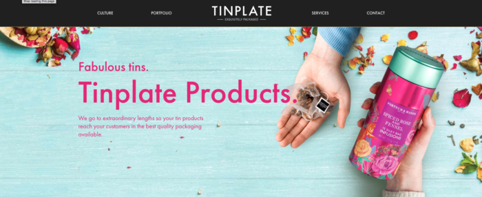 Tinplate's Flat Design - Web Design Trends