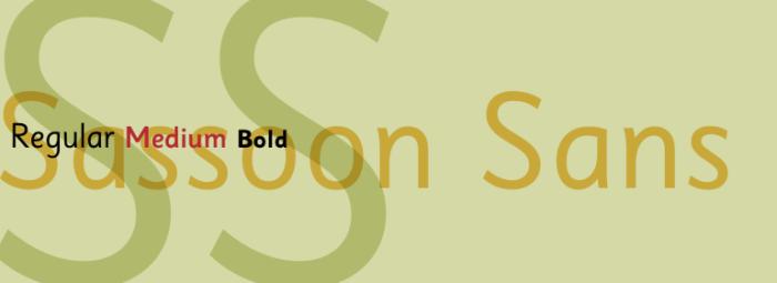 Sassoon Sans Typeface