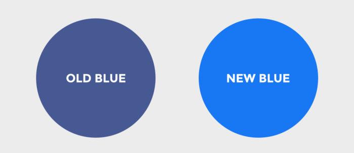 Facebook Logo - Old Blue vs New Blue