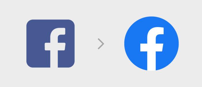 Facebook Logo - Square Logo vs Round Logo