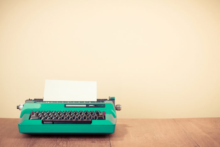 Nostalgia Marketing typewriter