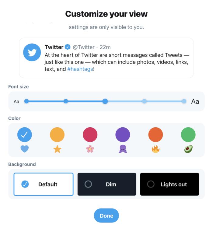 New Customisation Twitter Fifteen Design