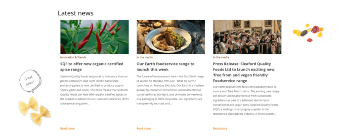 Sleaford Quality Food Latest News
