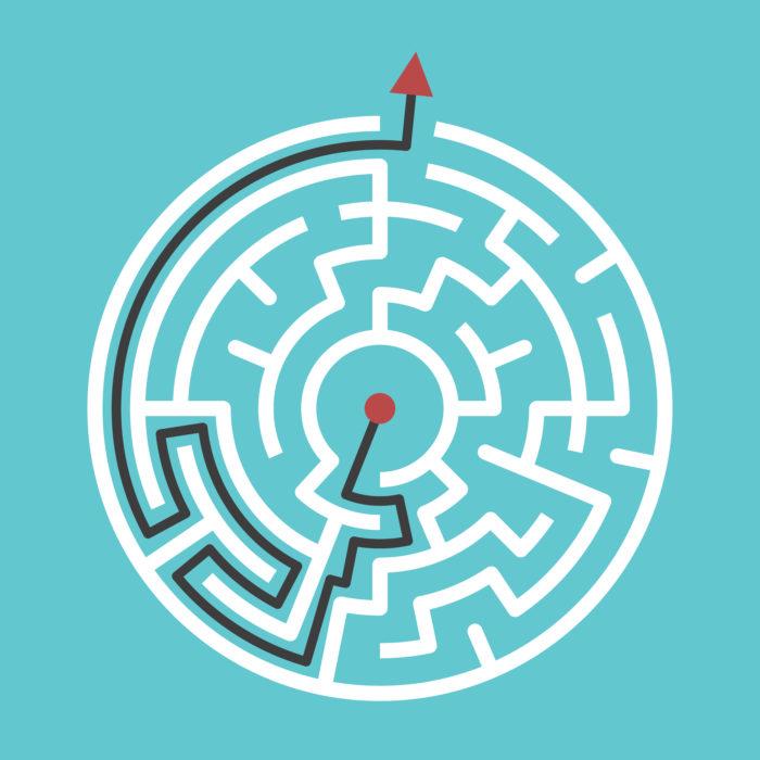 Keep it simple maze illustration (1)