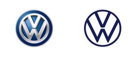 New VW logo vs the original