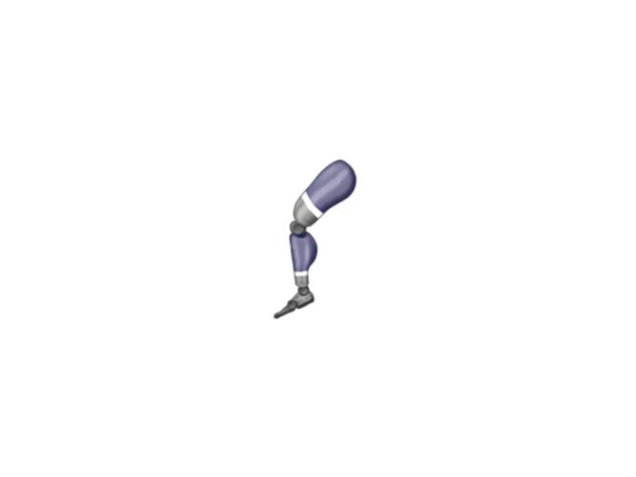 Prosthetic leg emoji (Courtesy: Emojipedia)