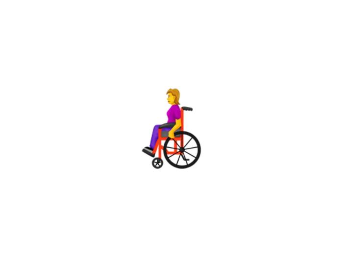 Wheelchair emoji (Courtesy: Emojipedia)