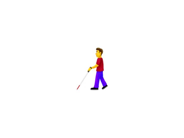 Blind person emoji (Courtesy: Emojipedia)
