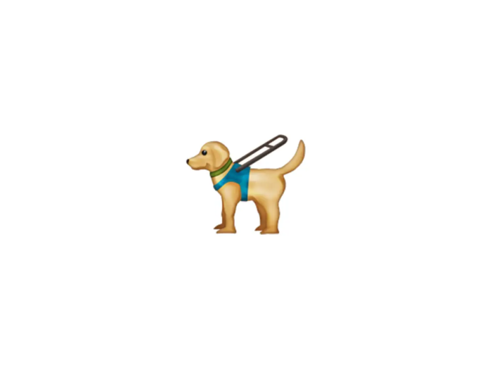 Guide dog emoji (Courtesy: Emojipedia)