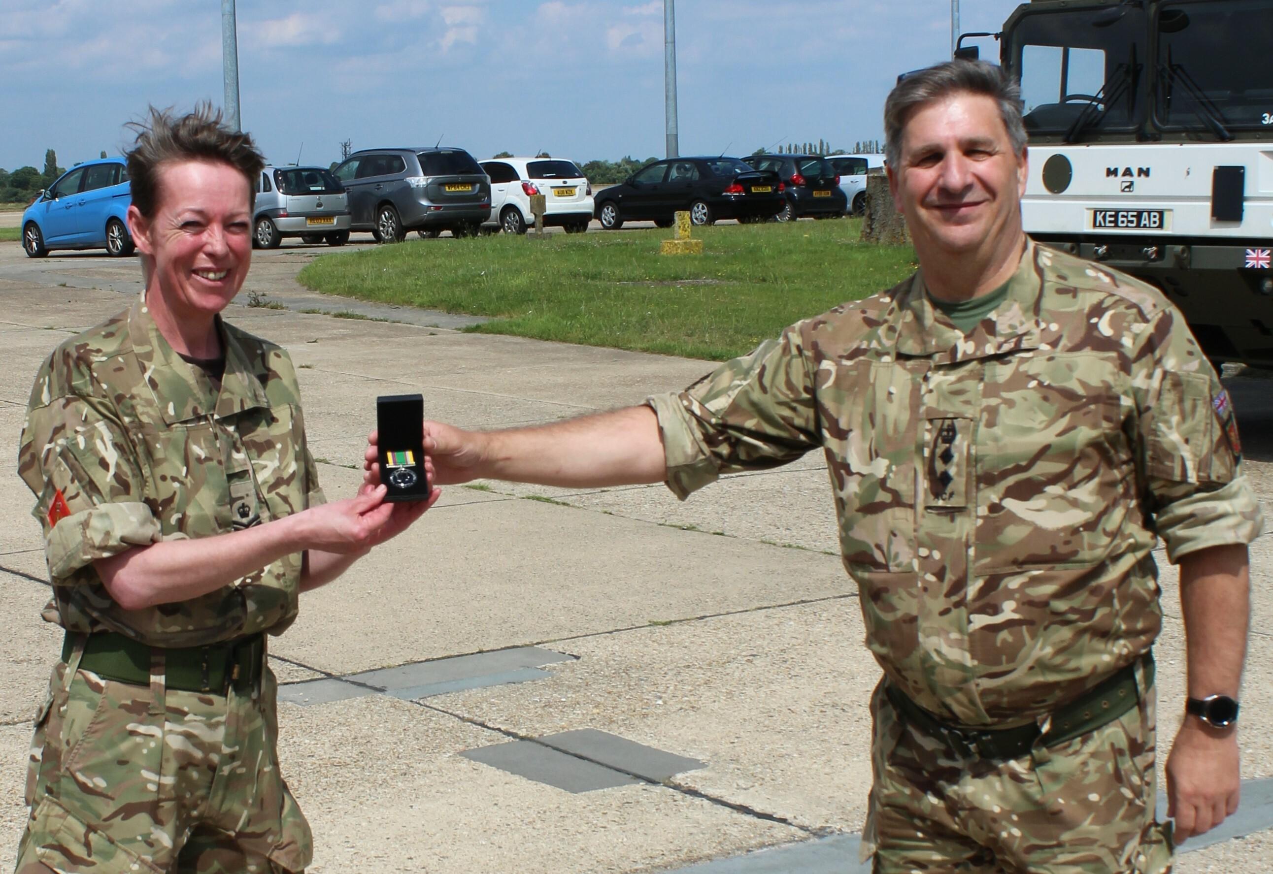 Award of the Cadet Force Medal to SSI T Jemison