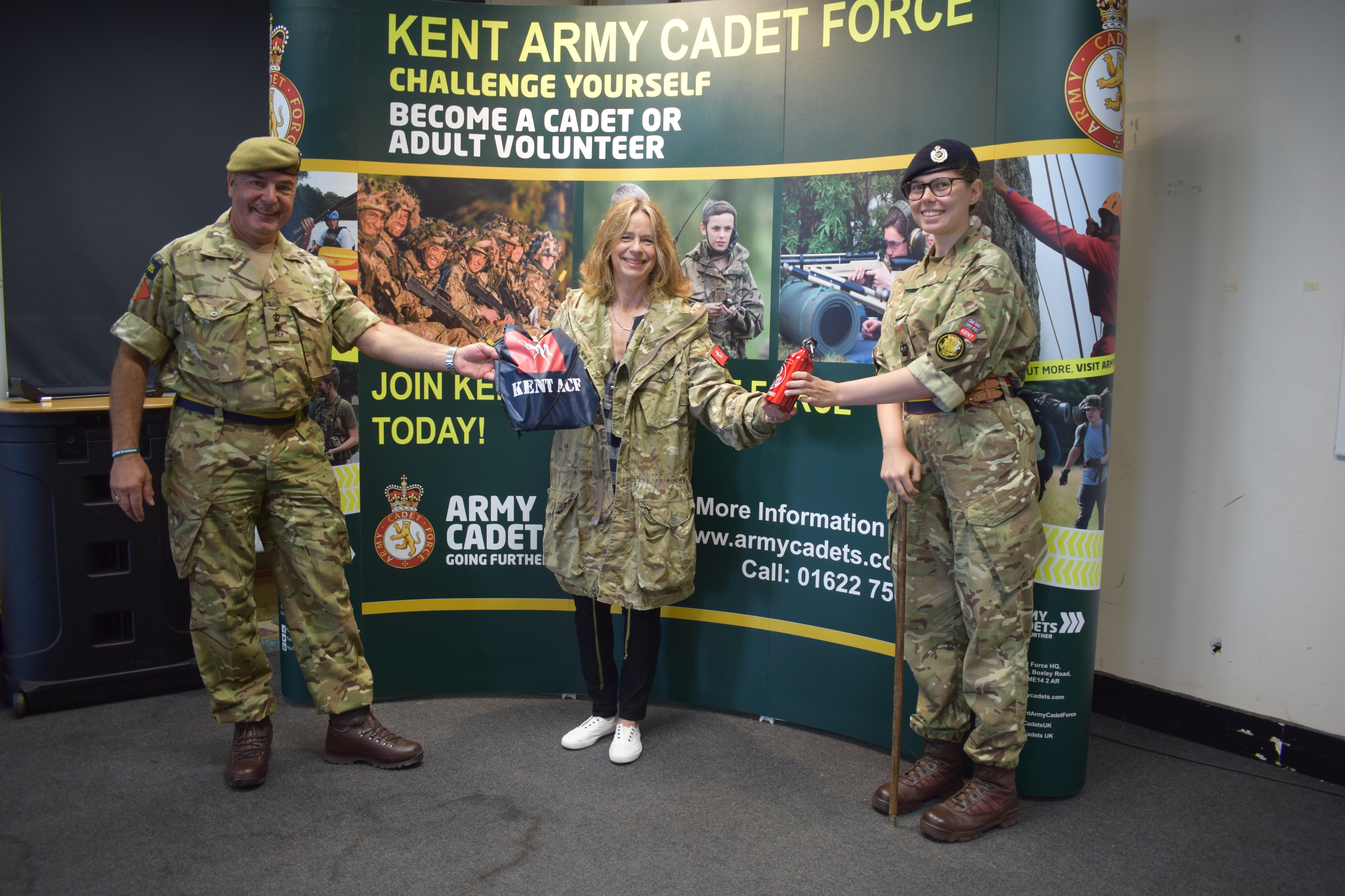 Lt Colonel Simon Dean, Lady Colgrain and the Lord Lt's Cadet