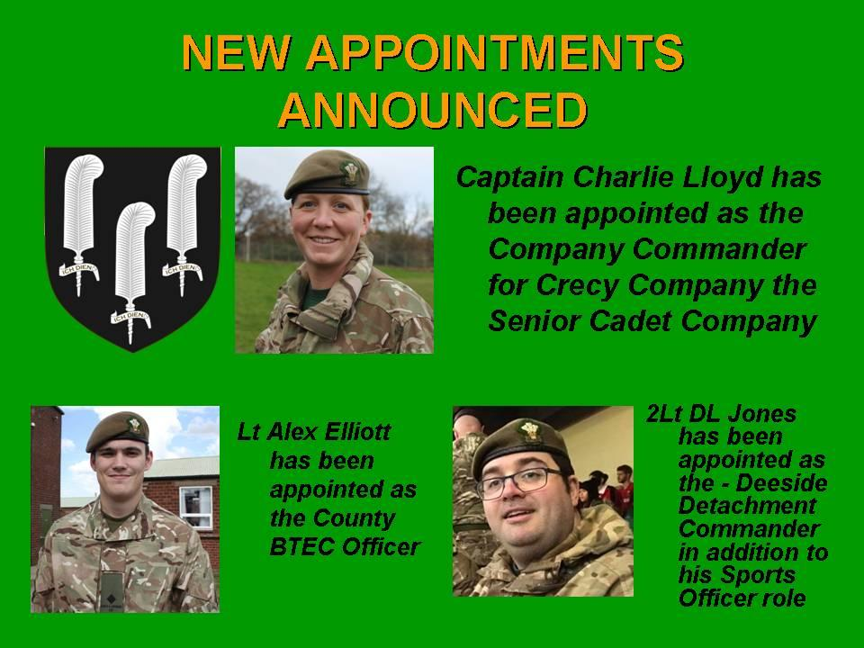 New Appointments