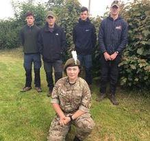 Berkshire cadets fundraising in Wales