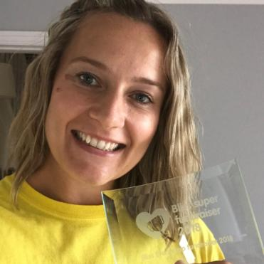 Kirsty Gill Super Fundraiser With Trophy