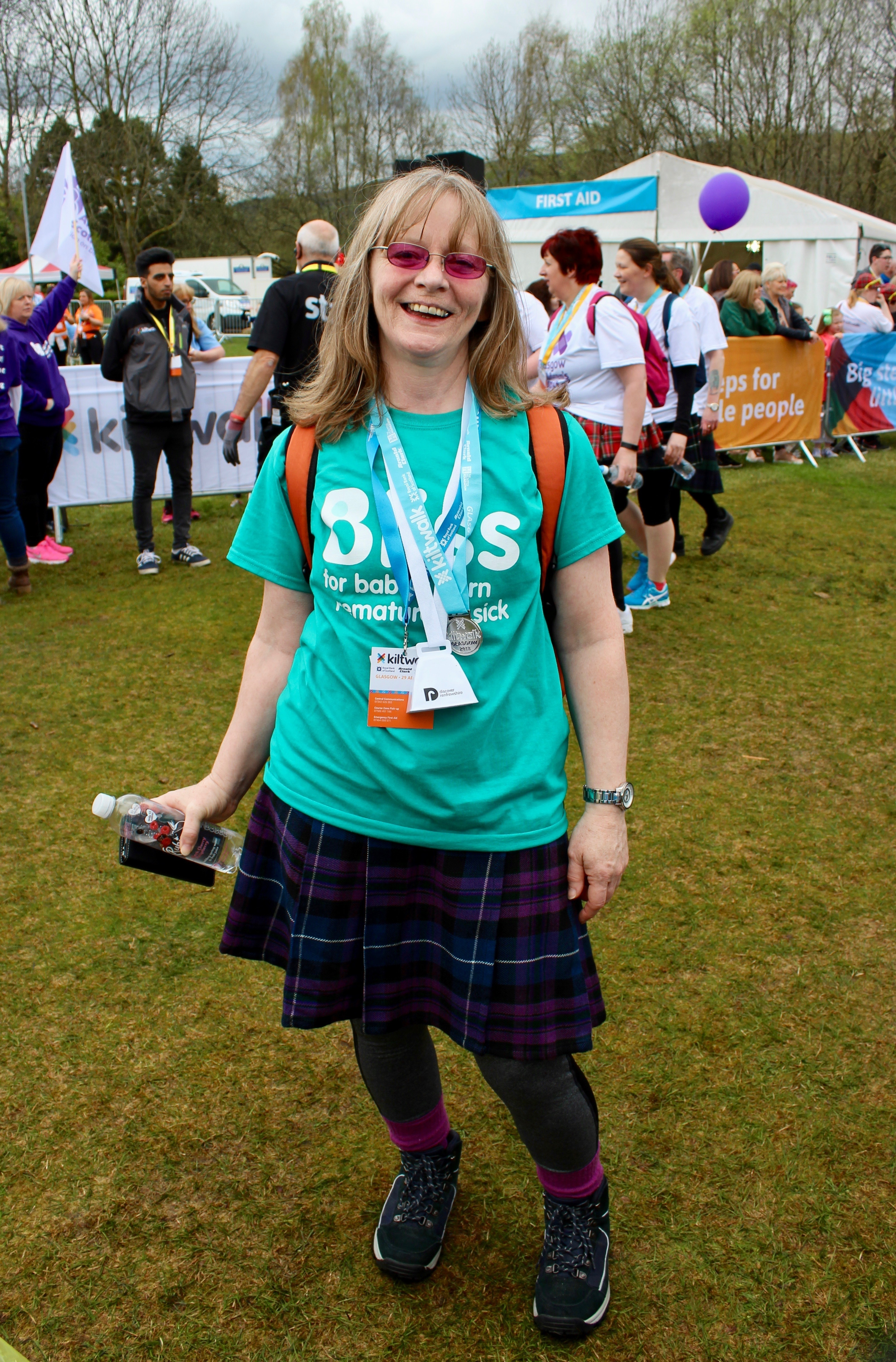 Glasgow Kiltwalk Finish Line