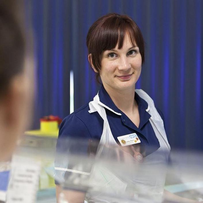Nurse on a neonatal unit