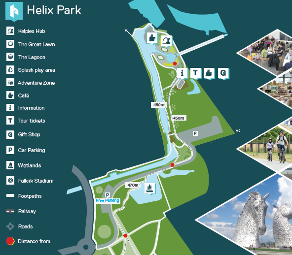 Kelpies Helix Park Map