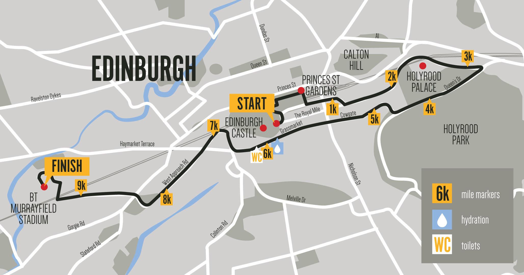 Mens10K Website Routemap Edinburgh Large