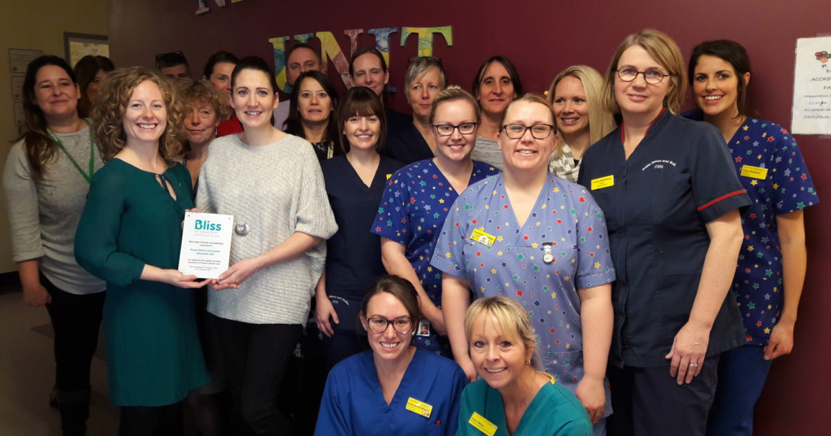 Royal Devon And Exeter Hospital Neonatal Unit Receives Bliss Baby Charter Accreditation Bliss