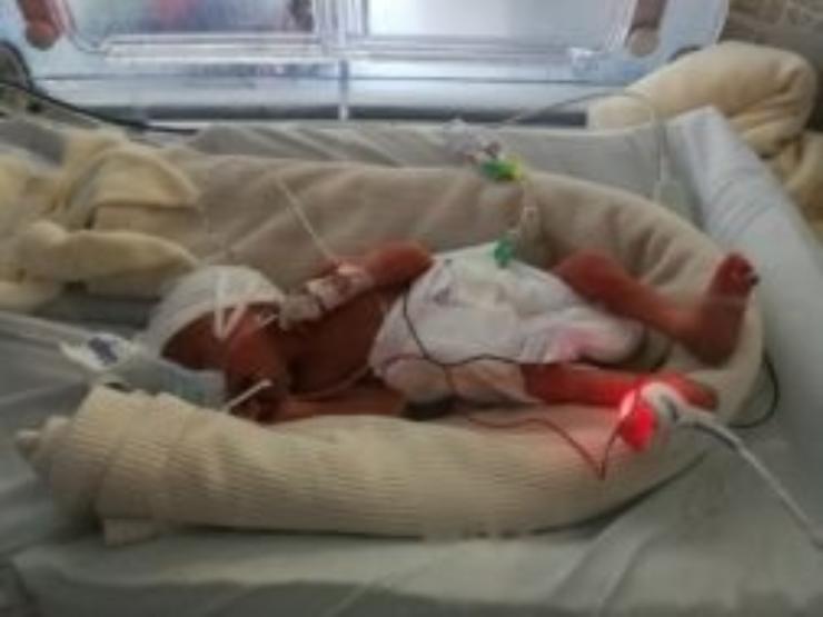Jack in his incubator