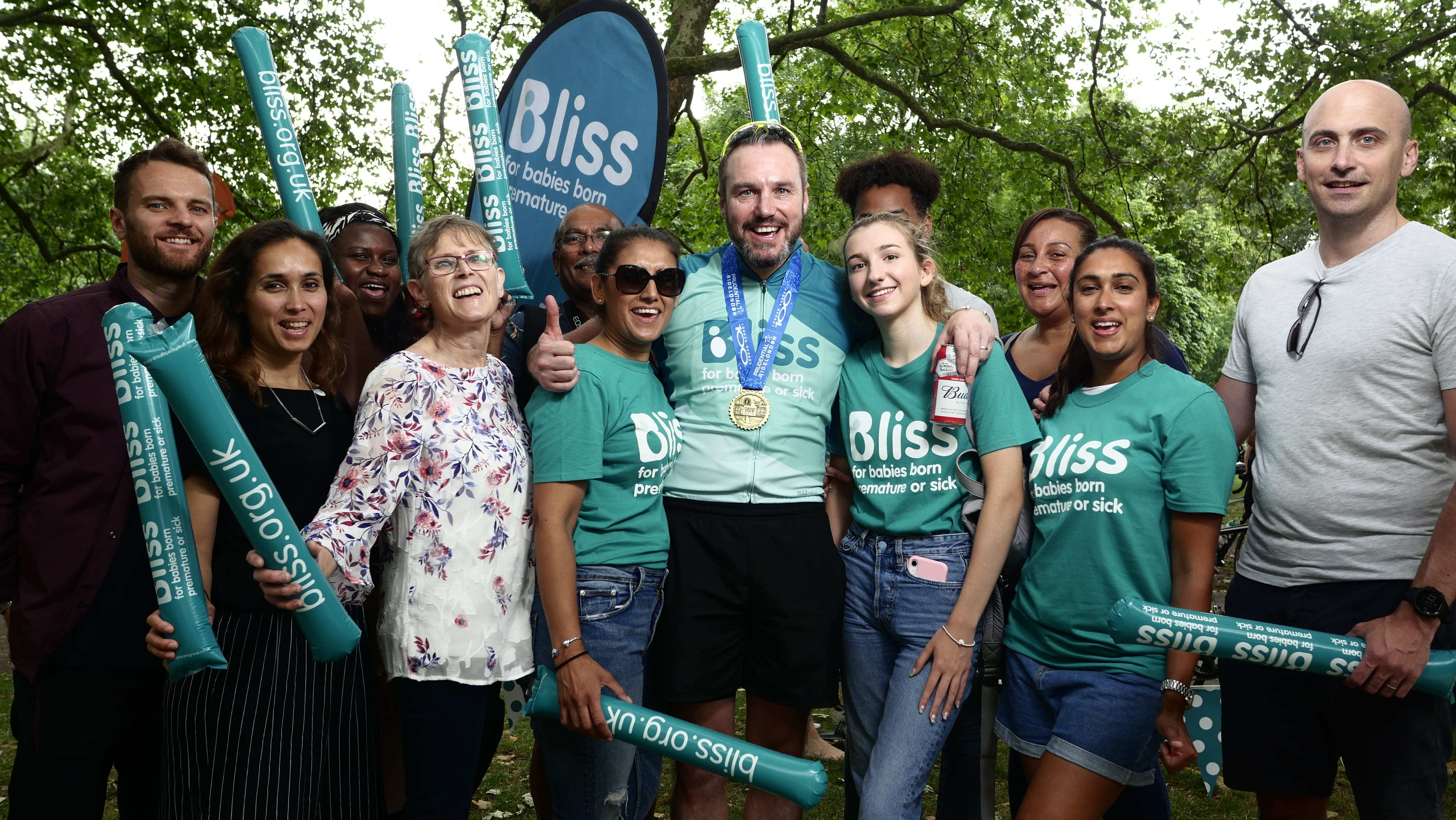 Team of bliss supporters in Green park