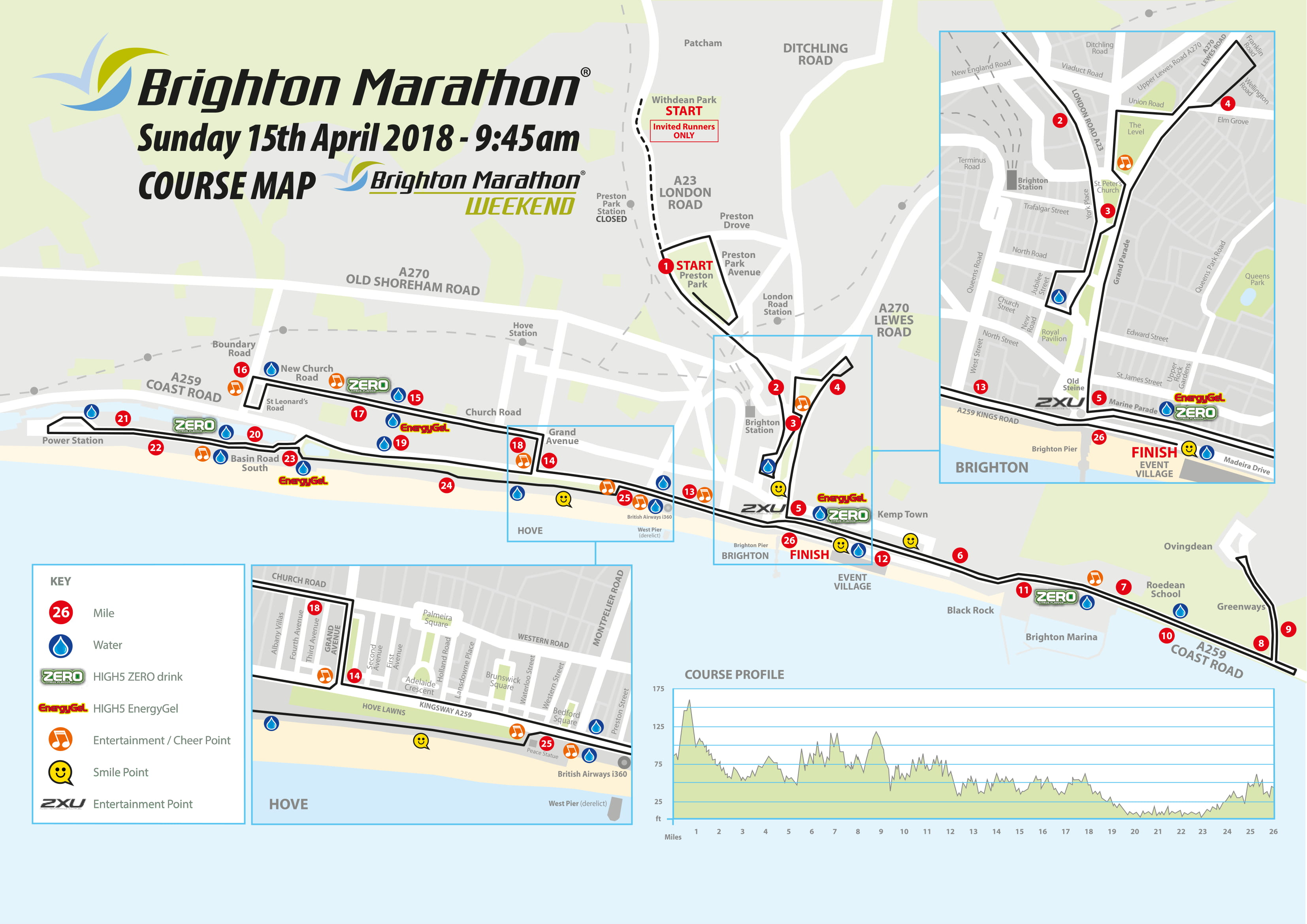 Brighton Marathon Route Map