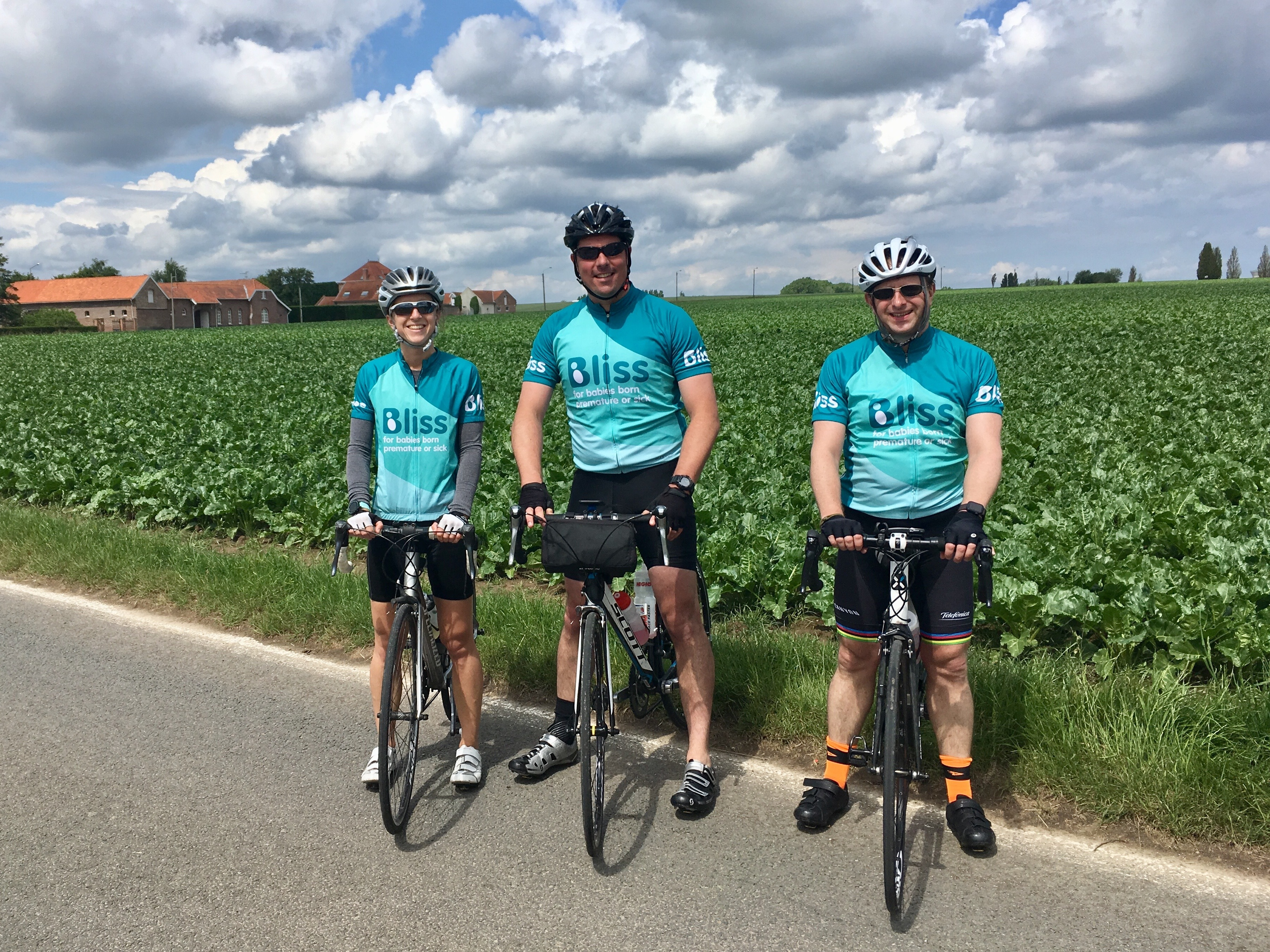 3 Bliss riders in the French countryside