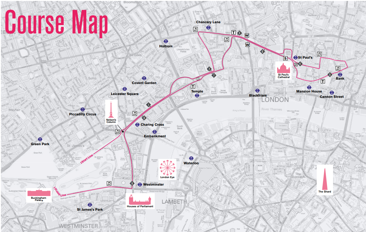 London 10,000 route map