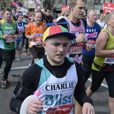 Funny hat whilst running