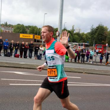Man running Great North Run