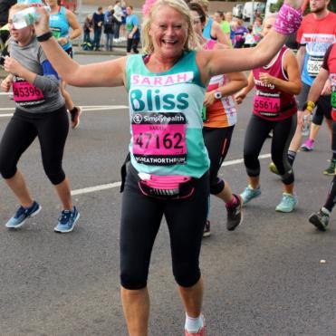 Women running the Great North Run