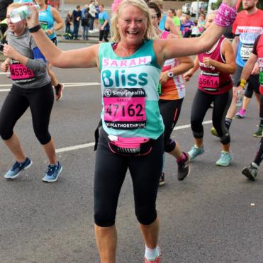 Women running the Great North Run