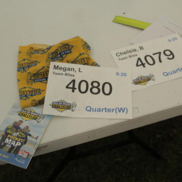 Race numbers ready to go