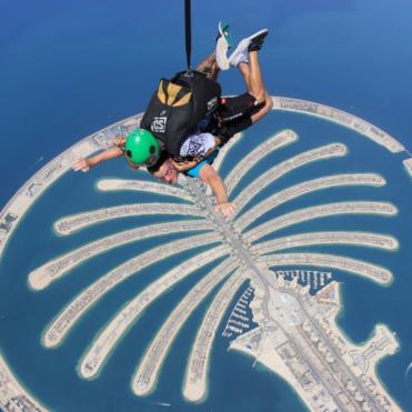 Jumper skydiving in Dubai