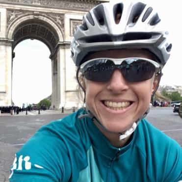 Rider and the Arch de Triomphe