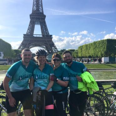 4 bliss riders by the Eiffel Tower