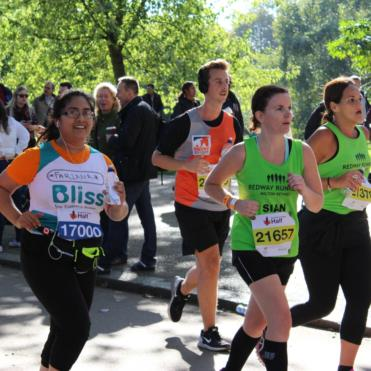 Women running the Royal Parks Half Marathon