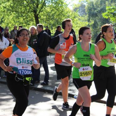 Women running the Royal Parks Half Marathon