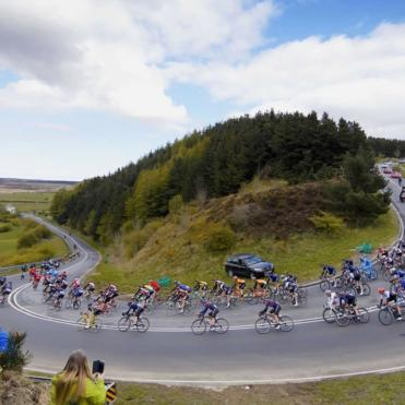 Cyclists in the race