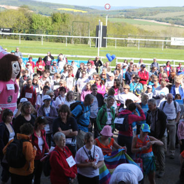 Walkers at the start line