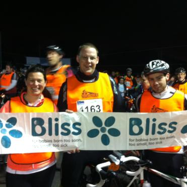 Bliss riders at the finish