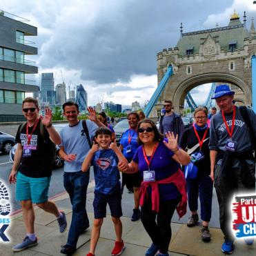 Walking over Tower Bridge