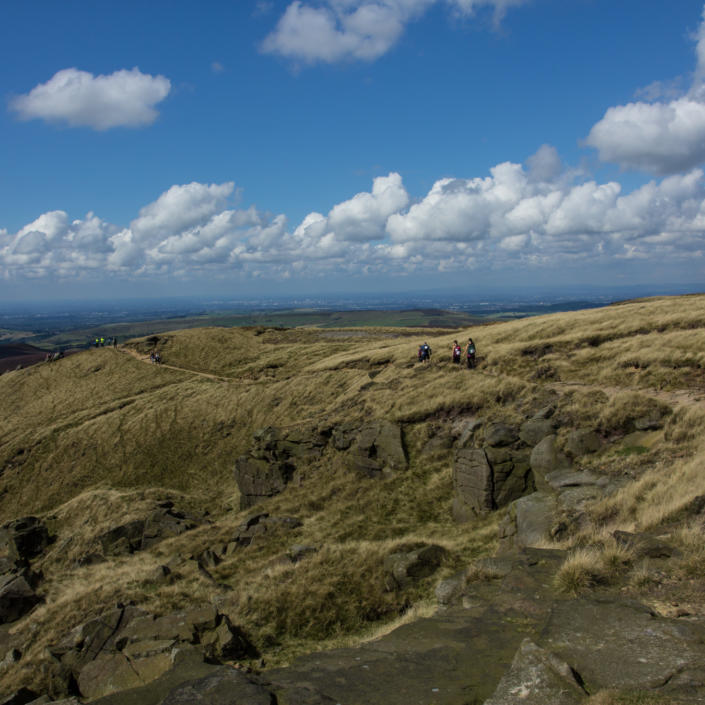 panoramic views over the Peak District