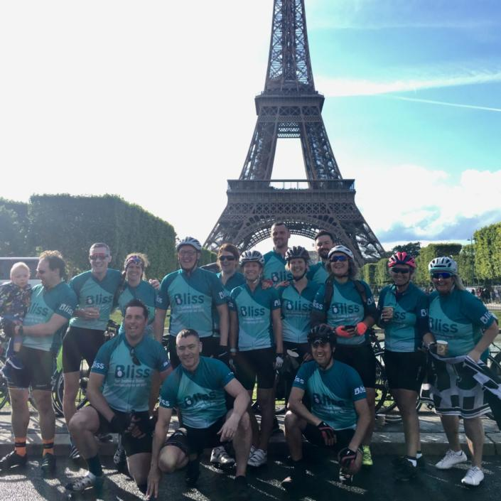 Team Bliss at the Eiffel Tower