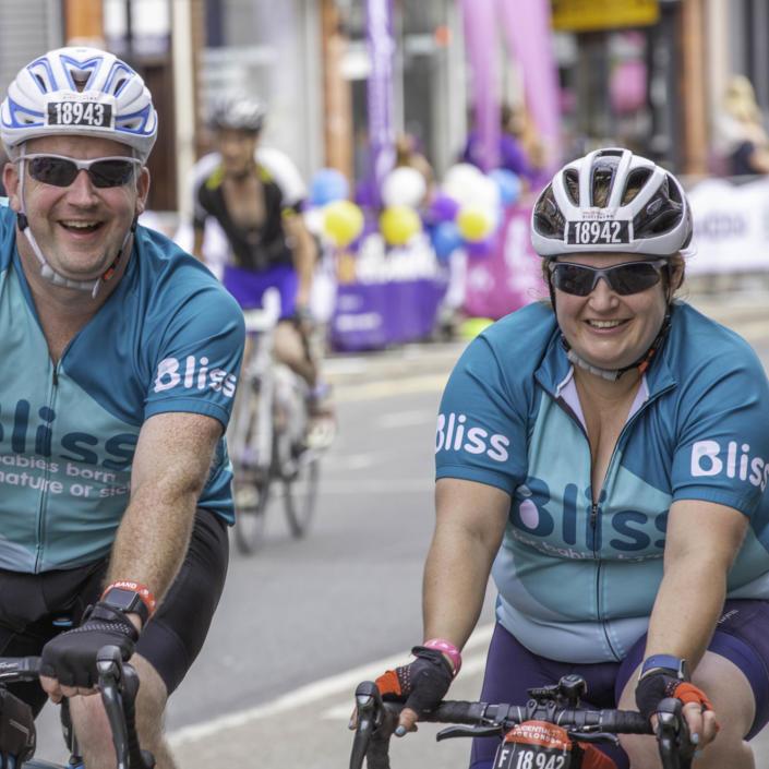 2 Bliss riders waving