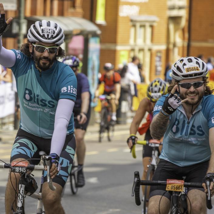 2 Bliss riders cheering