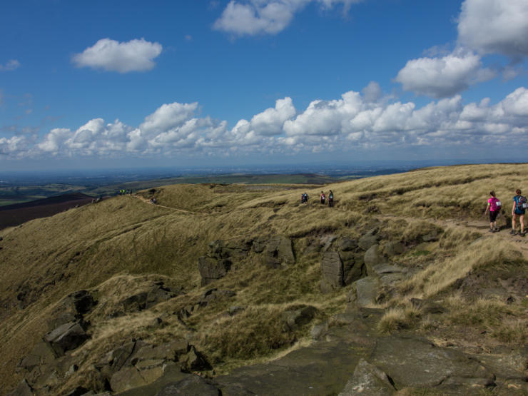 panoramic views over the Peak District
