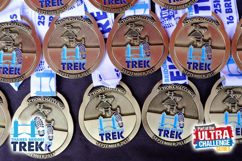Thames Bridge Trek medals