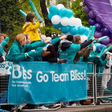 Bliss cheerers at London Marathon