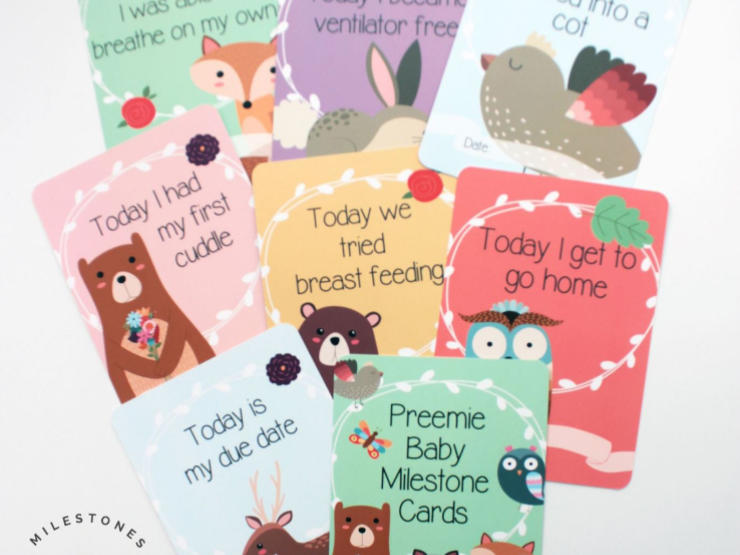 Molly And Izzie Milestone Cards